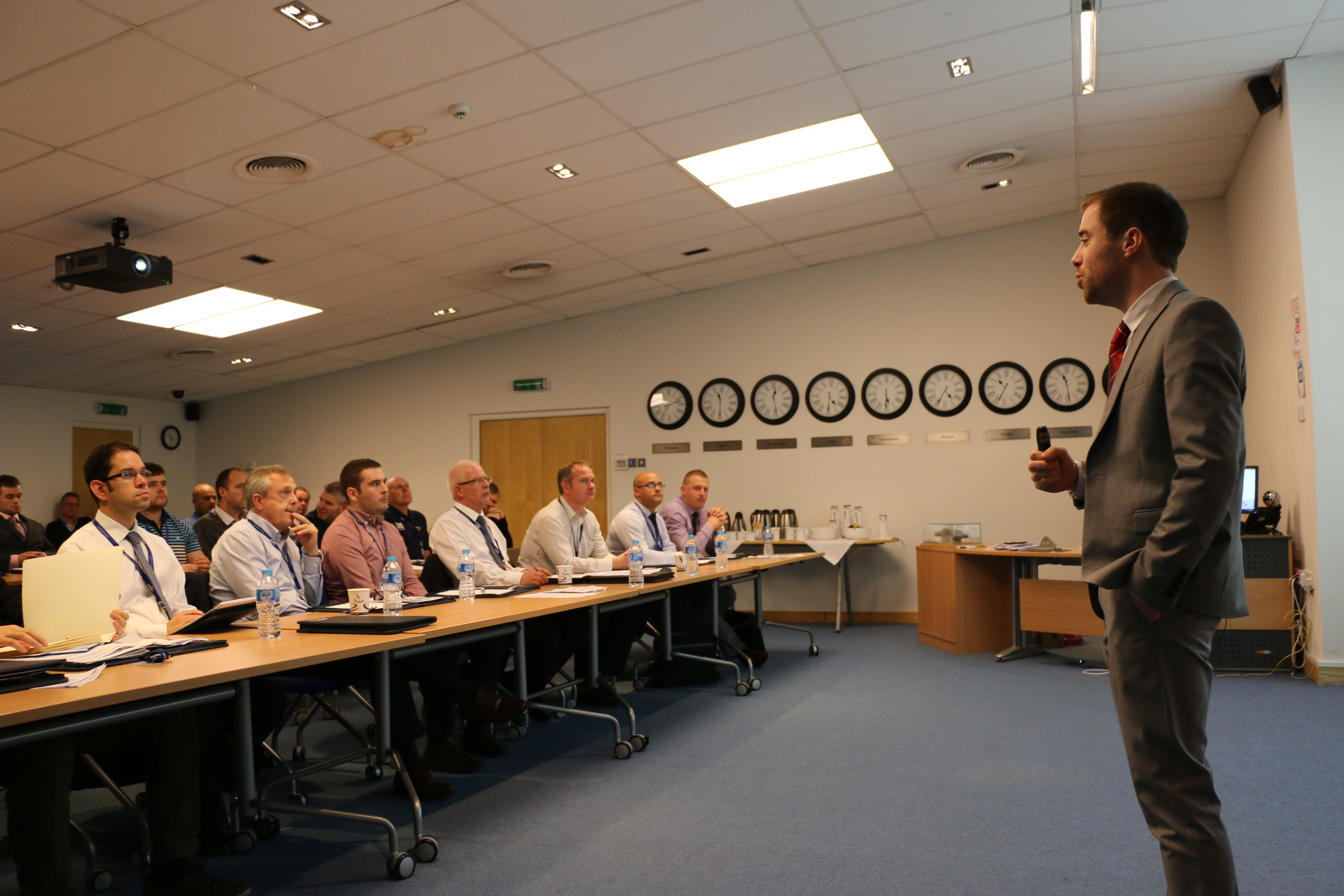 Technical Sales personnel deliver presentations about coating selection