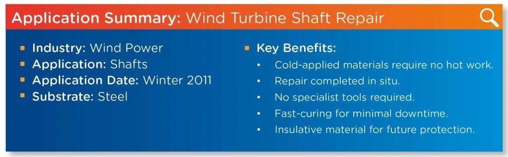 Wind Turbine Shaft Repair