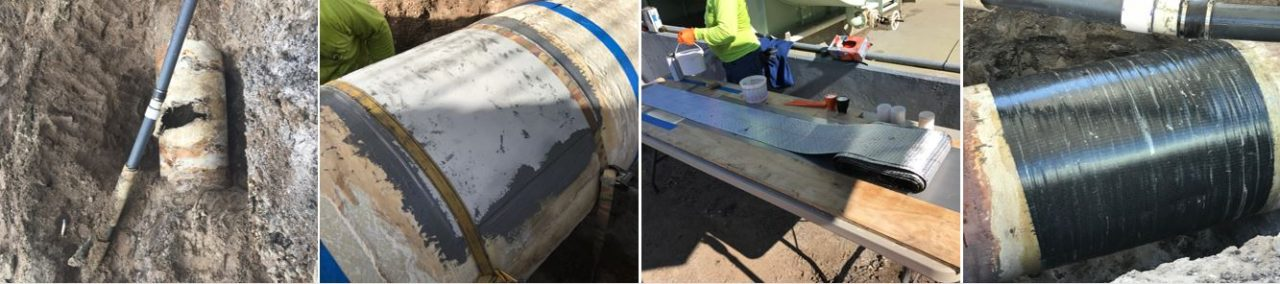 pipe wrap composite repair belzona superwrap