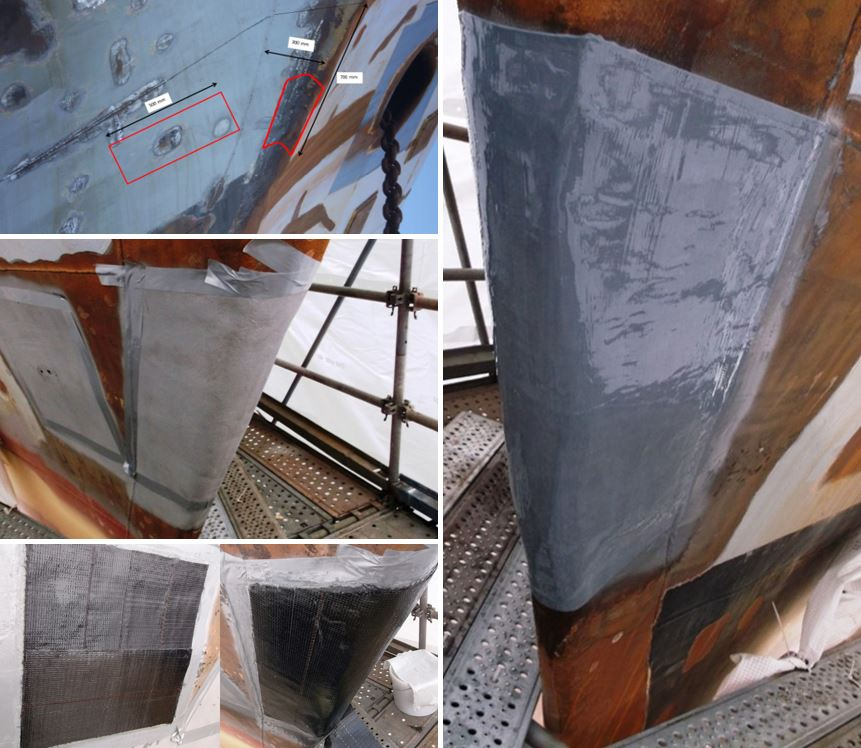 boat hull belzona superwrap