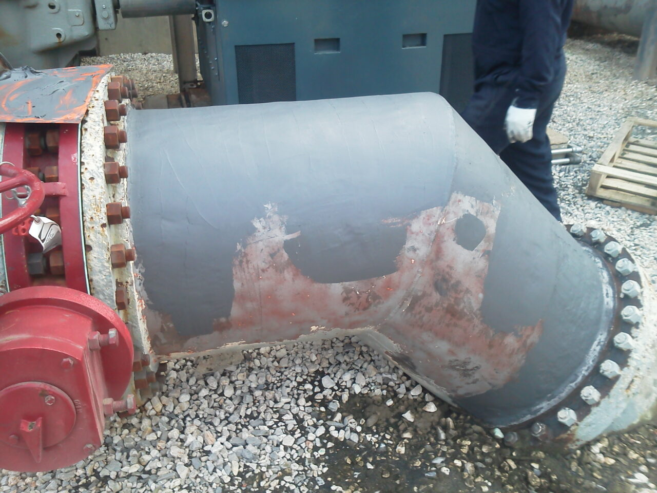 Epoxy-based composite applied to fill the pits