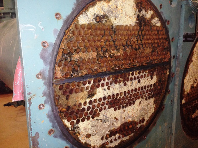Severe pitting corrosion to the heat exchanger