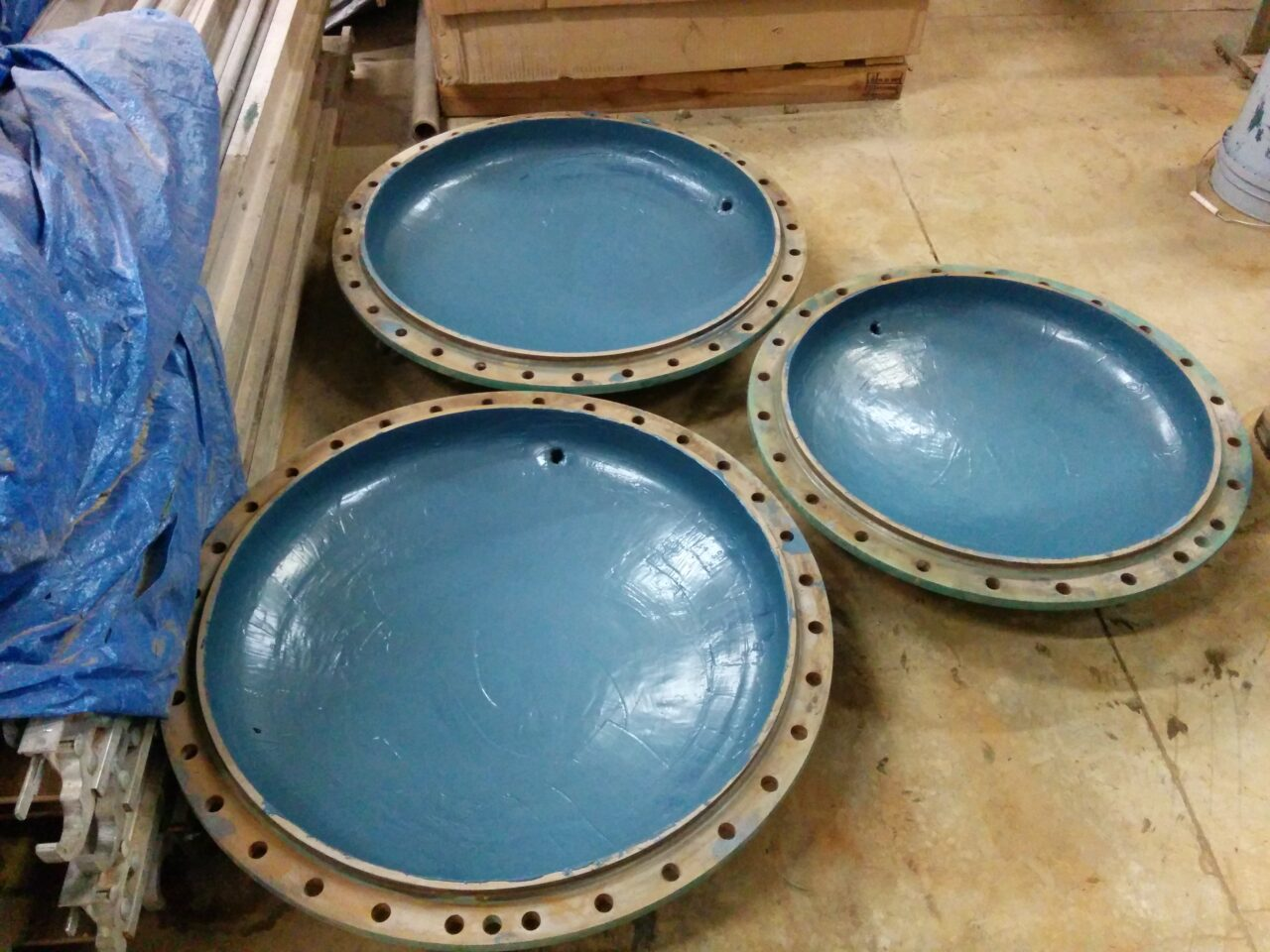 Completed application providing bi-metallic and pitting corrosion resistance