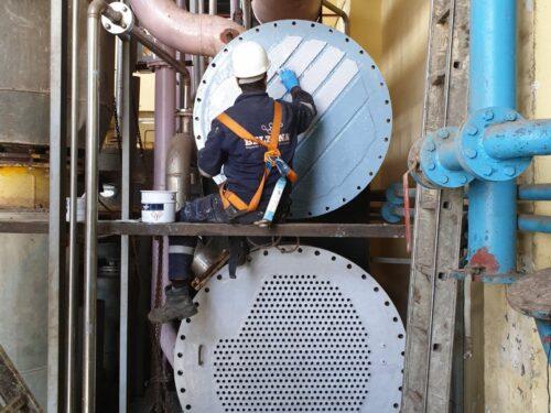 Heat exchanger repair and protection using Belzona 1391T