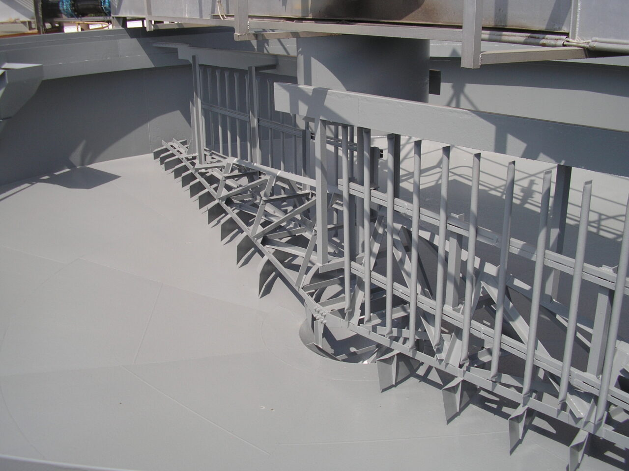Substrate protected against erosion and corrosion with Belzona 5811 Immersion Grade