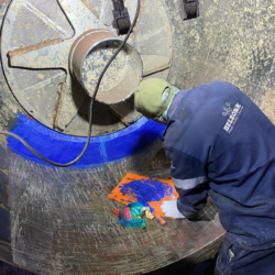 Application of Belzona 1818 on turbo separator