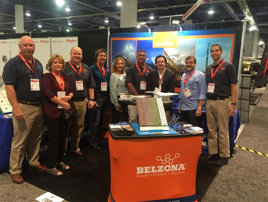 Belzona team exhibiting at MINExpo in 2016