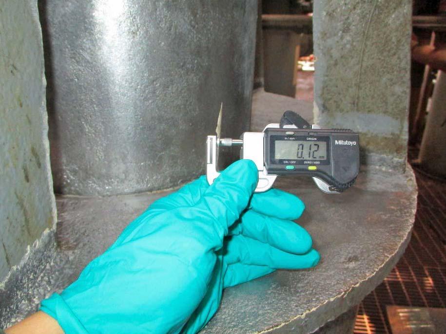 Surface profile of wellhead measured before wellhead maintenance
